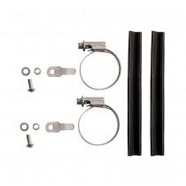 Paire de collier de fixation porte-bagages pour fourche 25 à 40mm