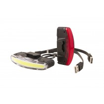 ARCO SET front +rear rechargeable USB + O rings