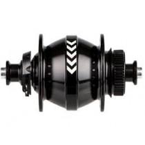Moyeu PL8, noir, 32 trous, disque centerlock